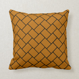 Burnt Orange Basket Weave 2 Cushion