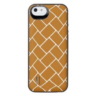 Burnt Orange Basket Weave iPhone SE/5/5s Battery Case