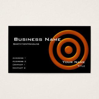 Burnt Orange Bullseye/Circles Business Card