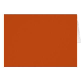 Burnt Orange Card