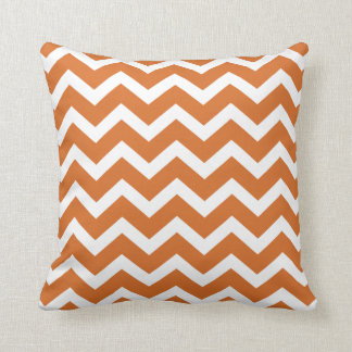 Burnt Orange Chevron Stripe Pillow