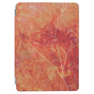 Burnt Orange Flower Field Background iPad Air Cover