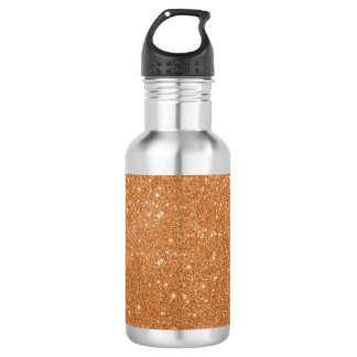 Burnt Orange Glitter Sparkles 532 Ml Water Bottle