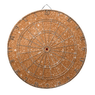 Burnt Orange Glitter Sparkles Dartboard