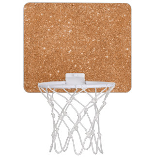 Burnt Orange Glitter Sparkles Mini Basketball Hoop