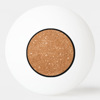 Burnt Orange Glitter Sparkles Ping Pong Ball