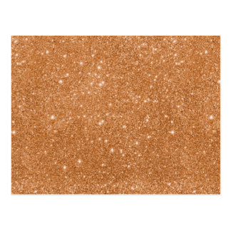 Burnt Orange Glitter Sparkles Postcard