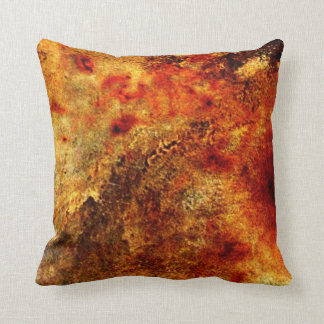 Burnt Orange Tan Abstract Throw Pillow