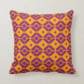 Burnt Orange Tribal Print - Throw Pillow