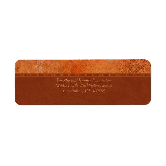 Burnt orange vintage elegant address labels