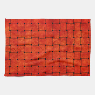 Burnt Orange Woven Together Tea Towel