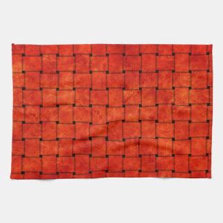 Burnt Orange Woven Together Tea Towels