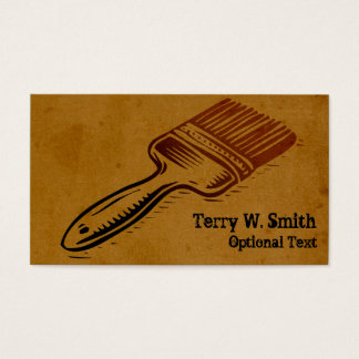 Burnt Paint Brush Business Card
