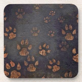 Burnt Paw Prints Coasters