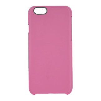 Burnt Pink Clearly™ Deflector iPhone 6 Case