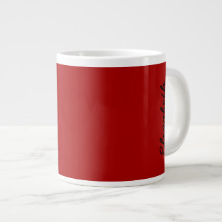 Burnt Red Solid Color Large Coffee Mug