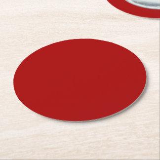 Burnt Red Round Paper Coaster