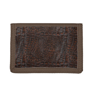 Burnt Rustic Leather4 Tri-fold Wallets