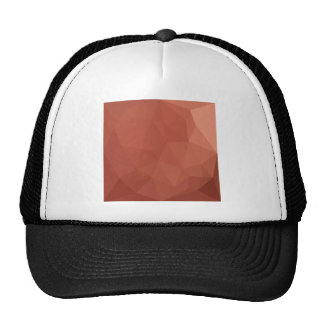 Burnt Sienna Orange Abstract Low Polygon Backgroun Cap