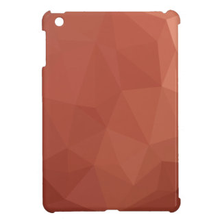 Burnt Sienna Orange Abstract Low Polygon Backgroun iPad Mini Covers