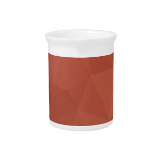 Burnt Sienna Orange Abstract Low Polygon Backgroun Pitcher