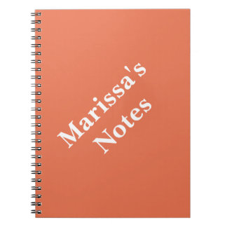 Burnt Sienna Personalizable Primary School Notebooks