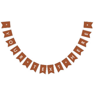 Burnt Sienna Solid Color Customize It Bunting