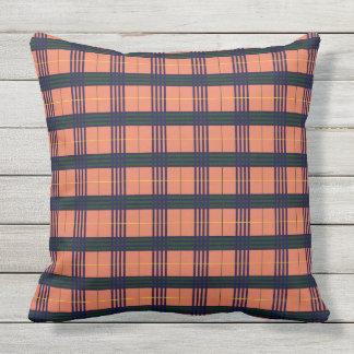Burnt Sienna - Tartan Outdoor Cushion