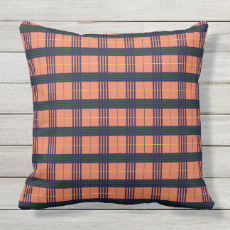 Burnt Sienna - Tartan Throw Pillow