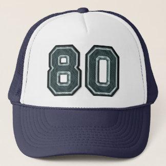 Burnt Teal Number 80 Trucker Hat
