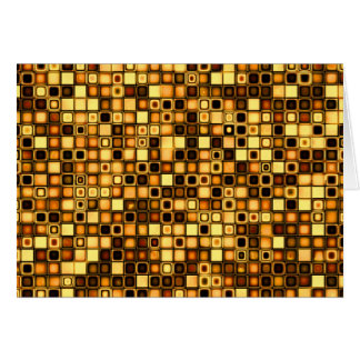 Burnt Terra Cotta Textured Mosaic Tiles Pattern Card
