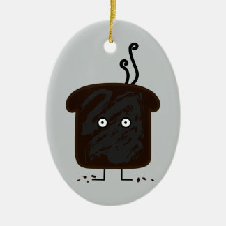 Burnt Toast smoke crumbs ashes bread Ceramic Ornament
