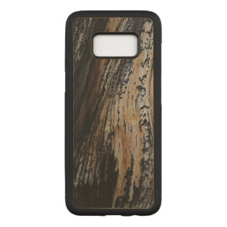 Burnt Tree Bark Texture Carved Samsung Galaxy S8 Case