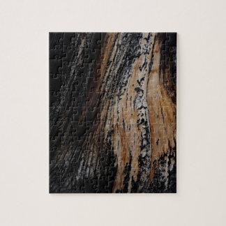 Burnt Tree Bark Texture Jigsaw Puzzle