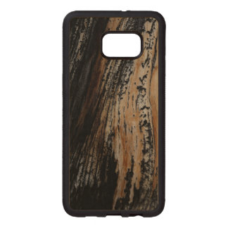 Burnt Tree Bark Texture Wood Samsung Galaxy S6 Edge Case
