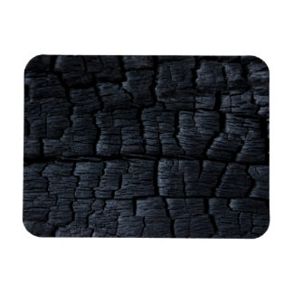 Burnt Wood Faux Texture Rectangle Magnets