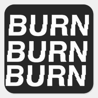 burnXburn Square Sticker