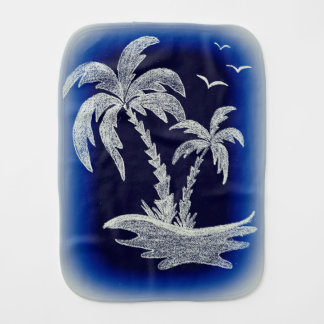 Burp cloth with Palm Trees. Different colors.