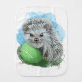 Burp Cloth with Playful Hedgehog