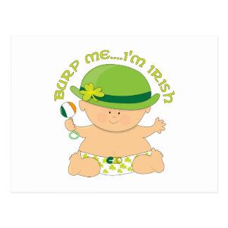 Burp Me...I'm Irish Postcard
