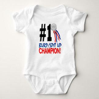 Burp Spitup Champion Baby Bodysuit