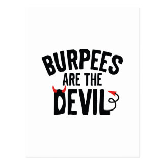 Burpees Are The Devil Postcard