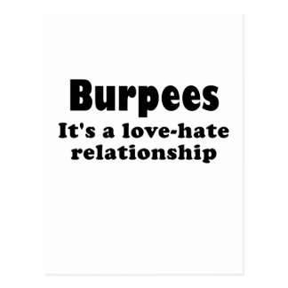 Burpees Its a Love Hate Relationship Postcard