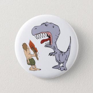 Burping Dinosaur 6 Cm Round Badge