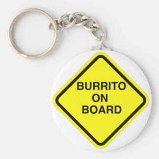 Burrito On Board Basic Round Button Key Ring