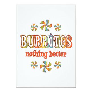 "Burritos Nothing Better 5"" X 7"" Invitation Card"