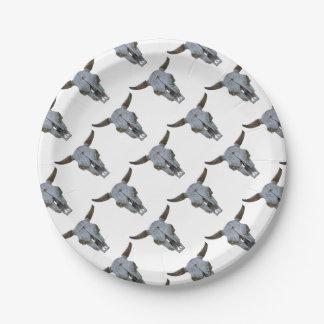 burro in the farm paper plate