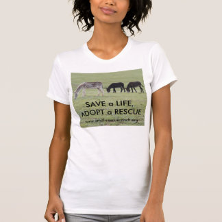 Burro~SAVE a LIFE, ADOPT a RESCUE T-Shirt