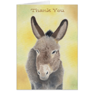 Burro thank you notecard