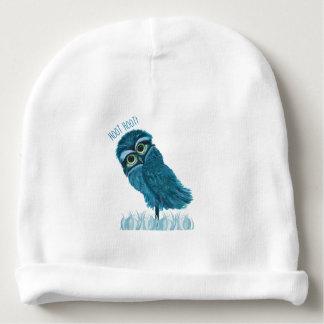 Burrowing Owl Art Baby Beanie